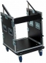 FLYGHTCASES 15 UNIT CON RUOTE  3 APERTURE